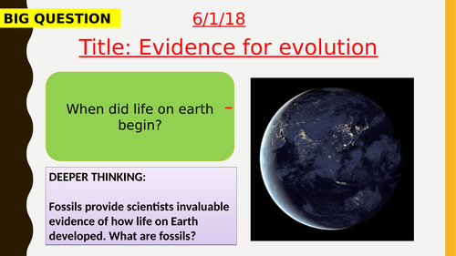 AQA new specification-Evidence for evolution-B15.5