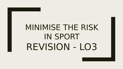 Cambridge Technicals Level 3 in Sport - Unit 4 LO3