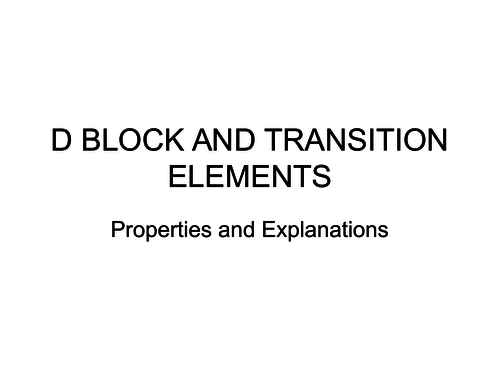d block element review