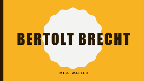 An introduction to Brecht