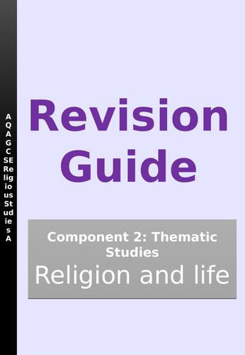 AQA GCSE RE SPEC A Thematic Studies B - Religion and Life  revision guide