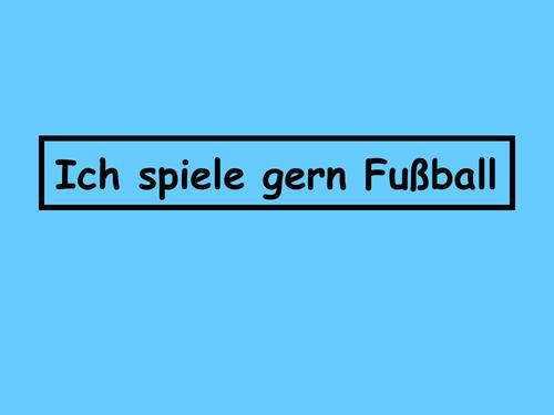 Ich spiele gern Fußball - Zoom 1
