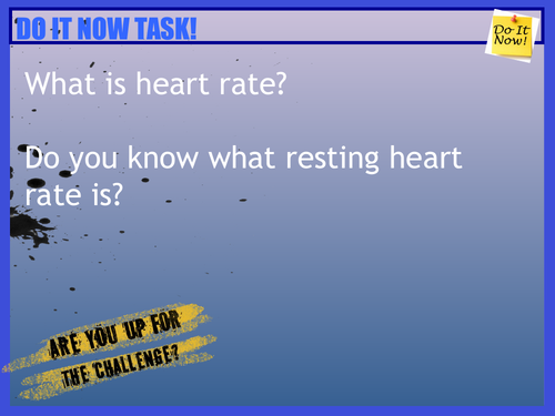 Analysing Heart Rate PowerPoint