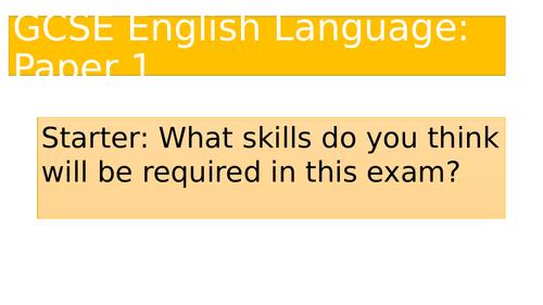 Introduction to EDEXCEL GCSE English Language