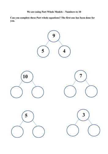 Part Whole Number Addition to 20 | Teaching Resources