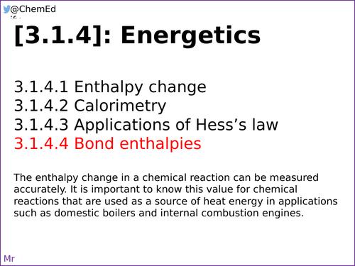 AQA A-Level Chemistry [3.1.4.4] Bond Enthalpies [New ...