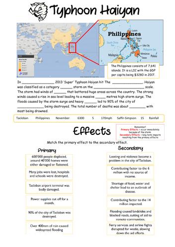 NEW 9-1 Typhoon Haiyan Case Study Summary