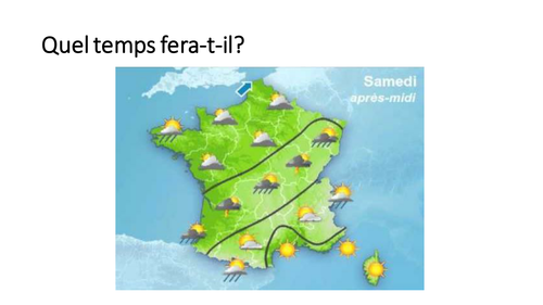 Le temps / La meteo / Weather / Weather in the future