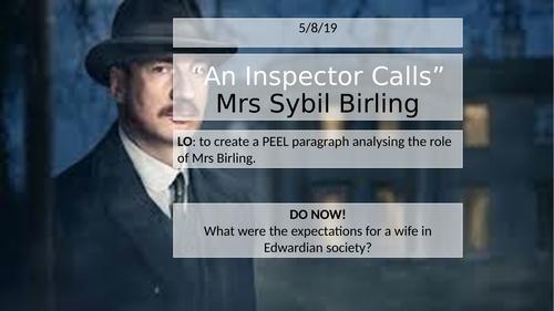'An Inspector Calls' - Mrs Birling Question