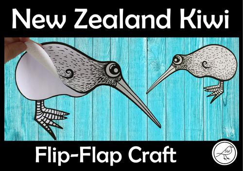 New Zealand Kiwi Craft – Flip Flap