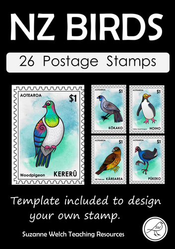 New Zealand Birds – Postage Stamps - Colour