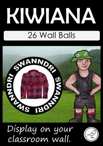 Kiwiana – Wall Balls – Colour