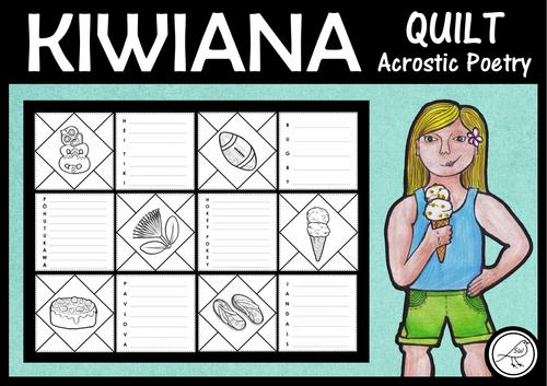 Kiwiana – Quilt – Acrostic Poetry
