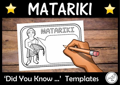 Matariki – Did You Know … Writing Templates