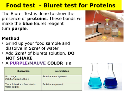 Food tests - GCSE required practical
