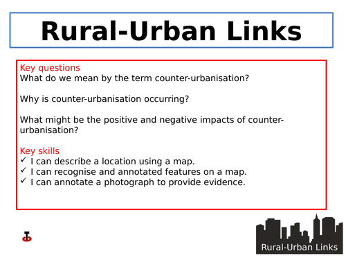 Counter-urbanisation and its impact on rural areas.
