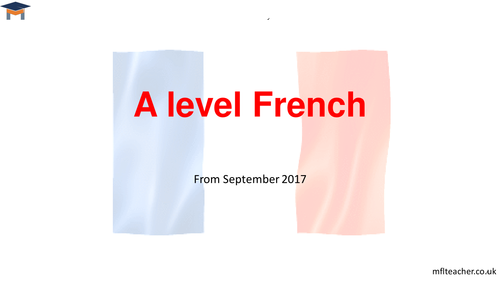 French A level taster session - new AQA specification