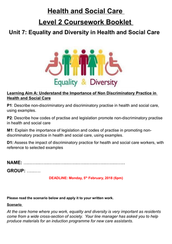 Level 2: Unit 7 - Equality and Diversity (Learning Aim A)