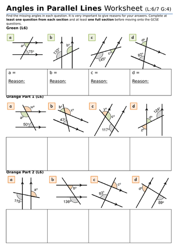 KS3/KS4 Maths: Angles in Parallel Lines