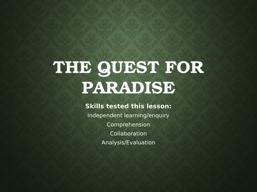 Beliefs in Paradise - Christian, Jewish and Islamic beliefs on heaven/paradise.