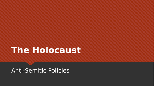 Holocaust: Hitler's Policies and the Kindertransport (Lesson 5)