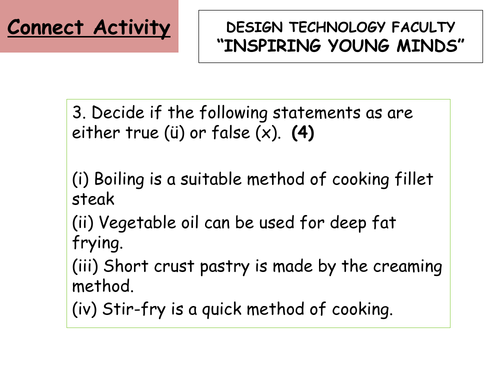 A power point for a lesson on HACCP for Hospitality and Catering