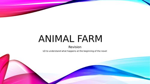 Animal Farm GCSE revision power points
