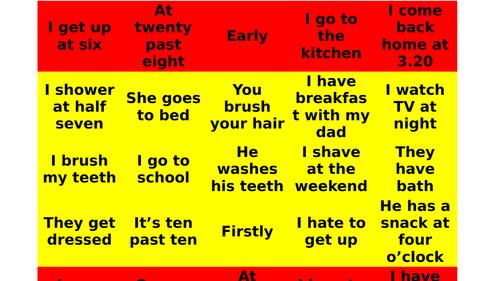 Claim the parcel translation game Mi Rutina New GCSE Viva AQA