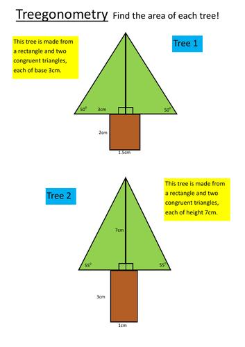 Treegonometry - problem solving with trigonometry, Pythagoras and trees!