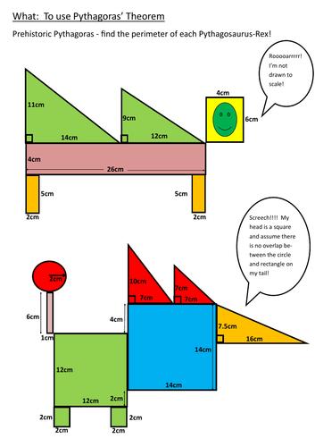 Pythagosaurus Rex - prehistoric Pythagoras Problem Solving!