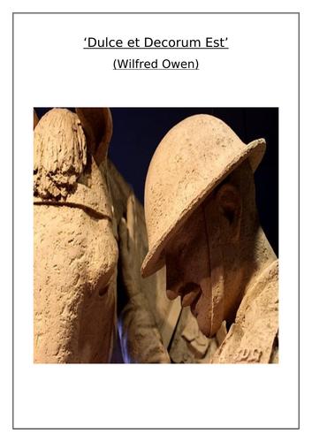 'Dulce et Decorum Est' (Wilfred Owen) Comprehension Questions