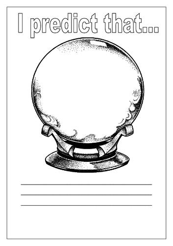 Recording a prediction Sheet