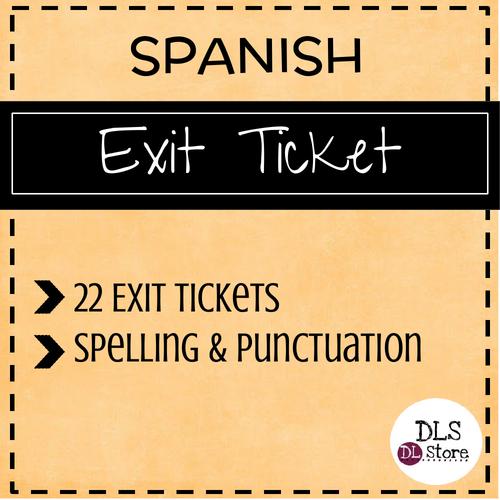 Spanish Exit Tickets