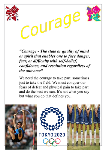 Olympic value posters