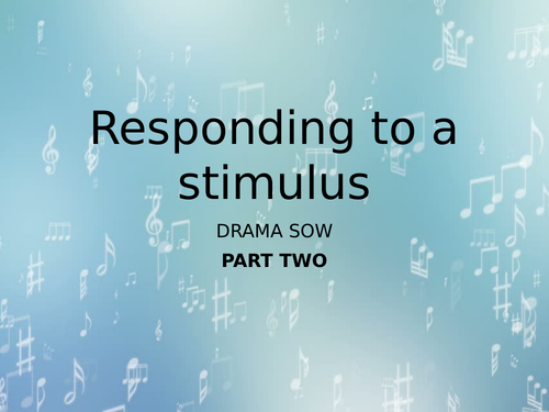 Responding to a stimulus (Part two)