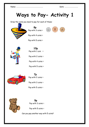 Money: Find Different Ways To Pay (3-Page Booklet)
