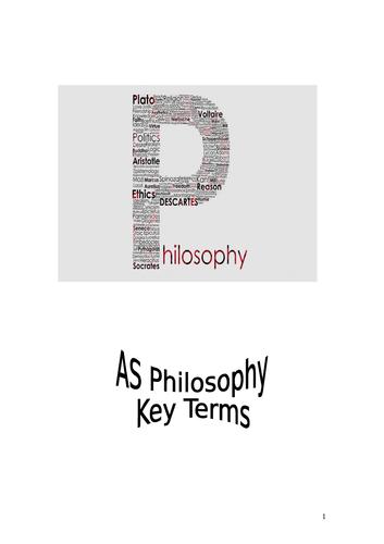 AS Philosophy Key Terms