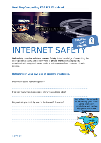 Year 7 E Safety Worksheets