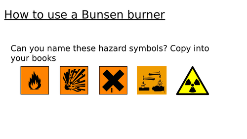 Using a bunsen year 7 intro