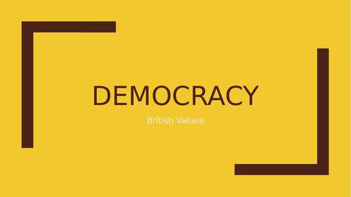 Democracy (British Values) Assembly