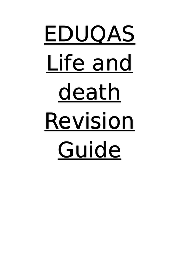 eduqas life and death revision  guide route B