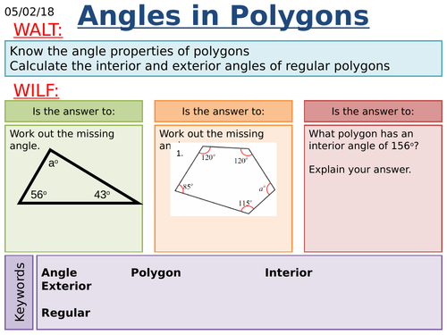 KS3/KS4 Maths: Polygons Investigation and Angles