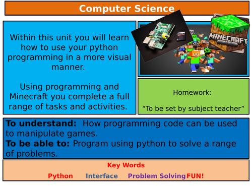Minecraft Pi Programming