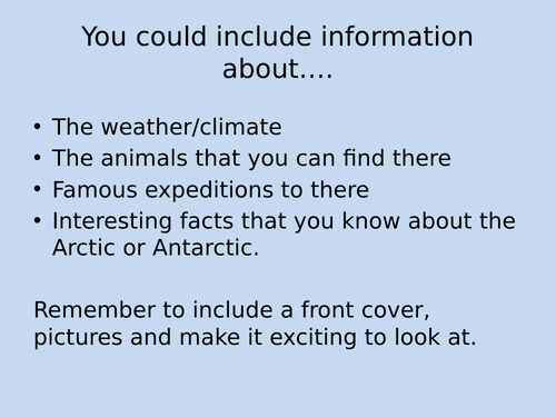 Polar Regions Arctic and Antarctic Plan and Resources