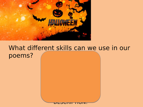 Halloween Poetry Plan and Resources