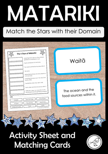Matariki Star Domains - Matching Cards and Activity Sheet