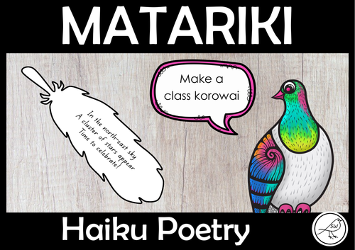 Matariki – Haiku Poetry Writing – Make a feather korowai
