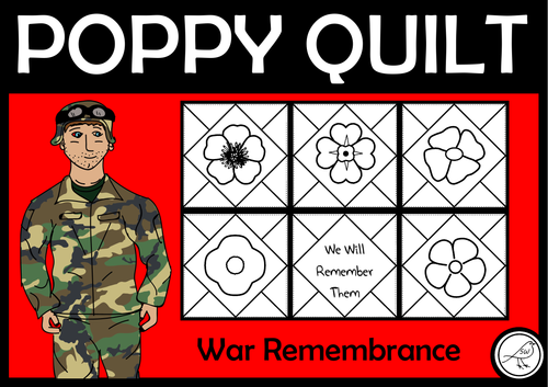 Poppy Quilt - Anzac Day, Remembrance Day, Armistice Day