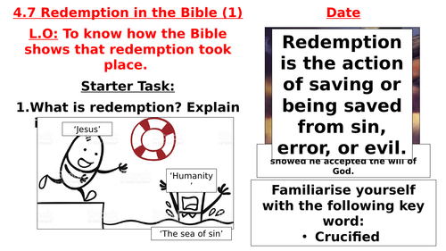 AQA B GCSE - 4.7 - Redemption in the Bible