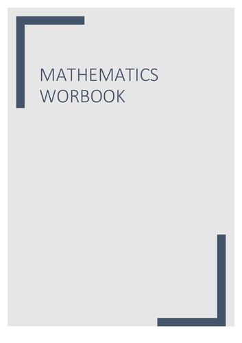Mathematics test workbook